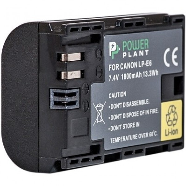 PowerPlant Canon LP-E6 Chip 1800mAh